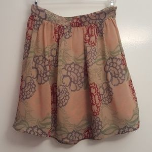 Forever XXI sheer floral skirt in xs
